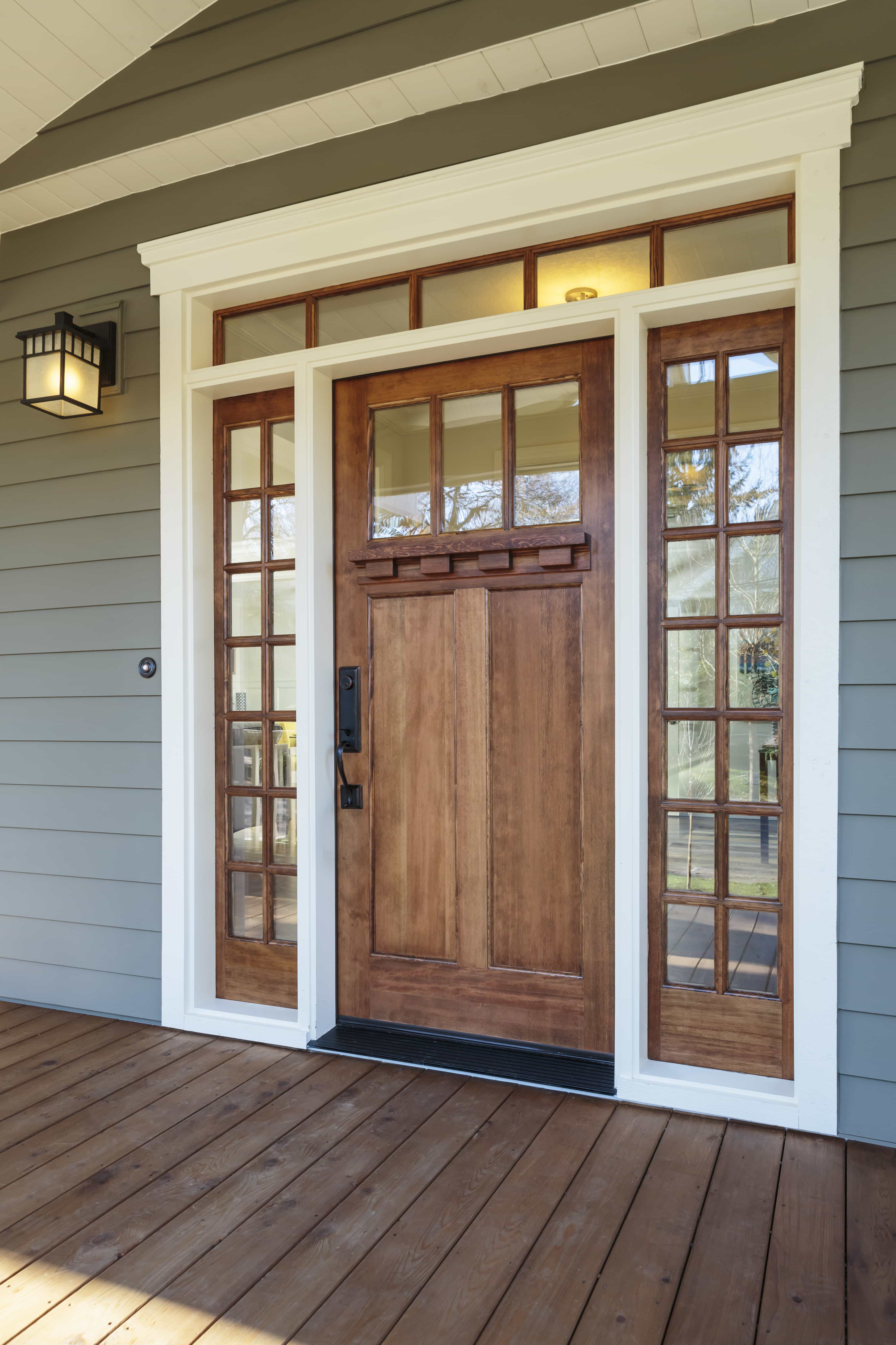 Give your home a facelift with simpson wood entry doors for Wood doors with windows
