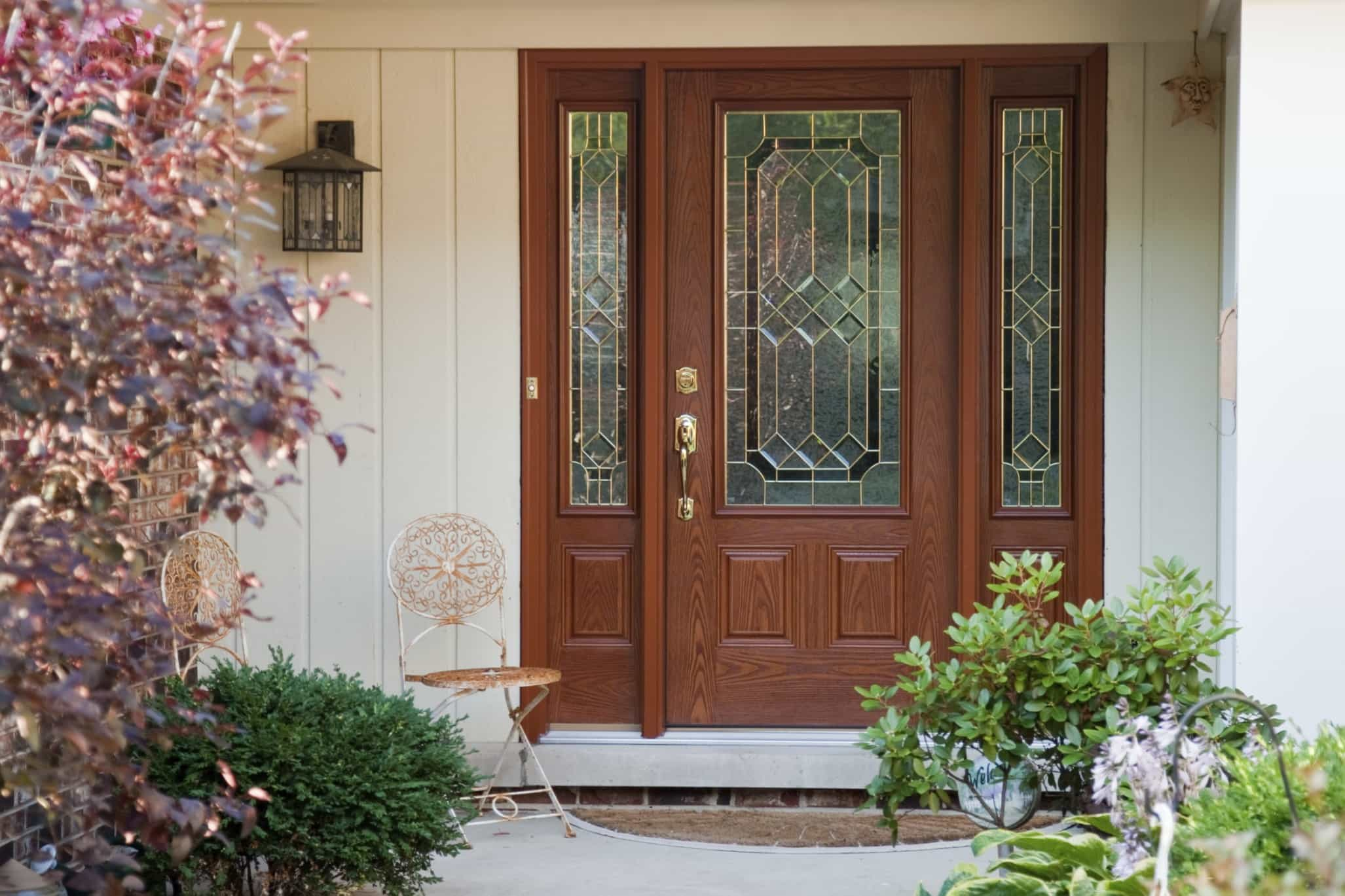 1369 #6B4131 Chicago's Best Fiberglass Entry Doors Sahara Window And Dors pic Fiberglass Entry Doors With Glass 38612054