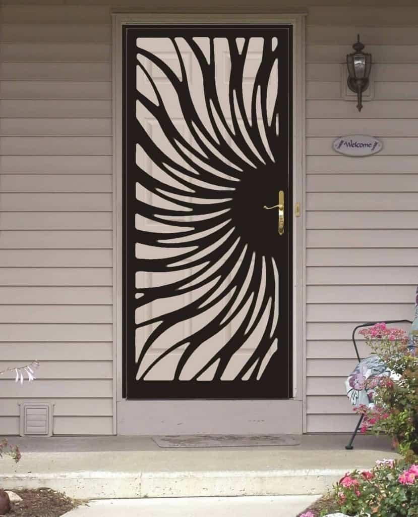 Wrought Iron Security Storm door