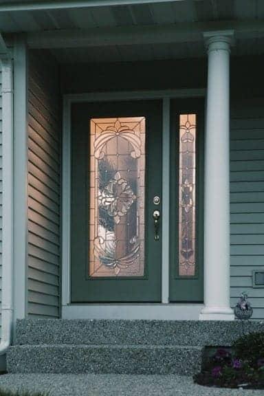 beautiful door with window