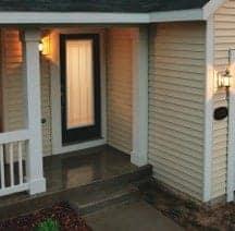 Exterior door with window