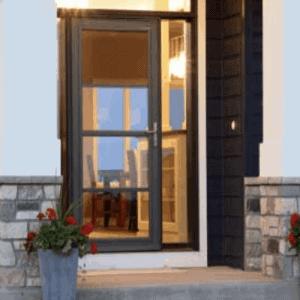 Front door and window